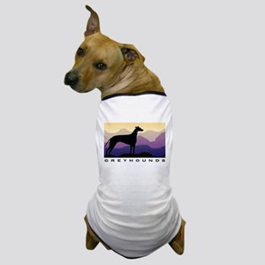 greyhound dog purple mountains Dog T-Shirt