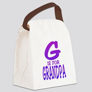 G is for Grandpa Canvas Lunch Bag