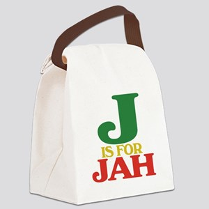 J is for Jah Canvas Lunch Bag