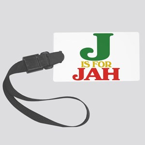 J is for Jah Large Luggage Tag