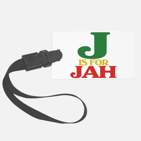 J is for Jah.png Luggage Tag