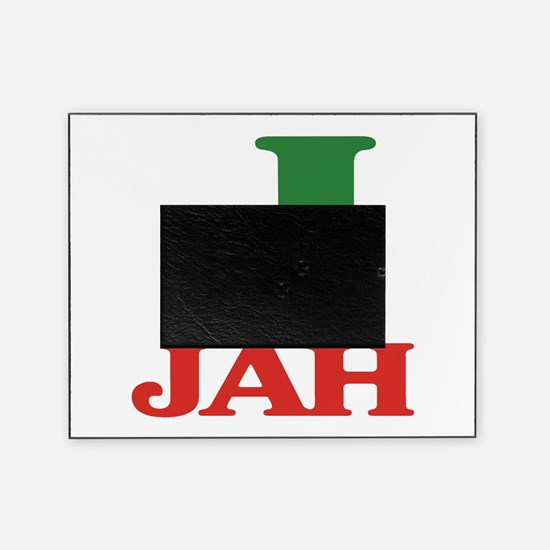 J is for Jah.png Picture Frame