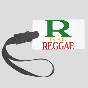 R is for Reggae Large Luggage Tag