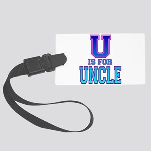 U is for Uncle Large Luggage Tag
