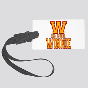 W is for Winnie Large Luggage Tag