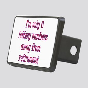 lottery retirement Rectangular Hitch Cover
