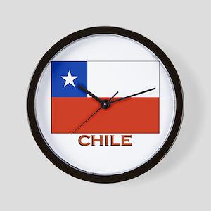 Chile Flag Stuff Wall Clock