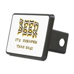 Beer cheaper than gas.png Rectangular Hitch Cover
