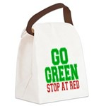 Go Green, Stop at Red.png Canvas Lunch Bag