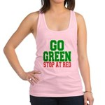 Go Green, Stop at Red.png Racerback Tank Top