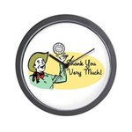 Shank You Very Much! Wall Clock