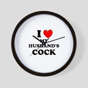 I Love My Husband's Cock Wall Clock