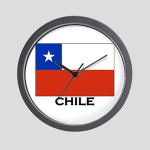 Chile Flag Merchandise Wall Clock
