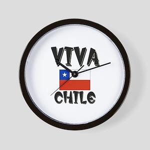 Viva Chile Wall Clock