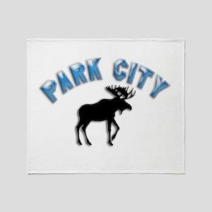 Park City Souvenir Moose Throw Blanket