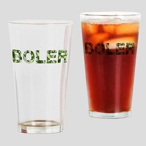 Boler, Vintage Camo, Drinking Glass