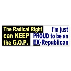 Proud Ex-Republican Bumper Bumper Sticker