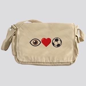I Heart Soccer Emoji Messenger Bag