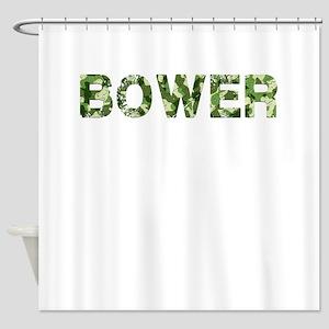 Bower, Vintage Camo, Shower Curtain