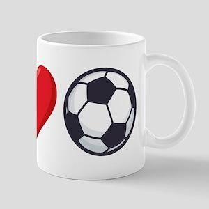 I Heart Soccer Emoji 11 oz Ceramic Mug
