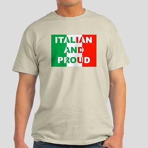 Italian And Proud Ash Grey T-Shirt