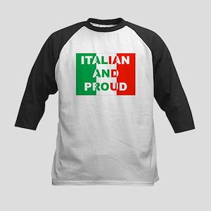 Italian And Proud Kids Baseball Jersey