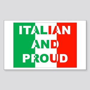 Italian And Proud Rectangle Sticker