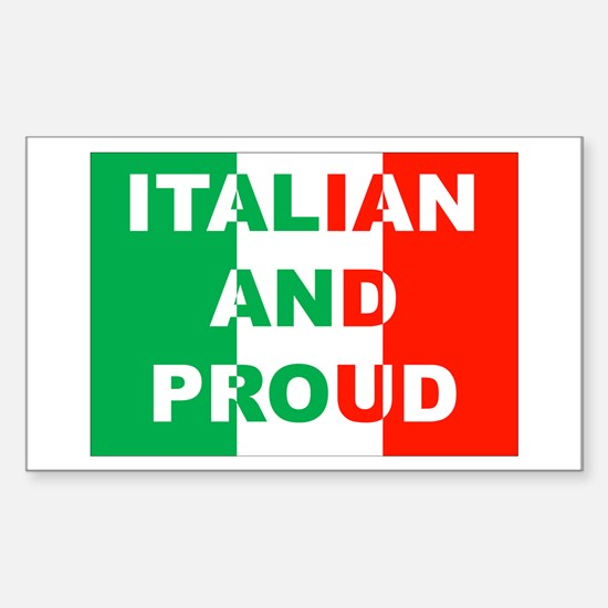 Italian And Proud Rectangle Decal