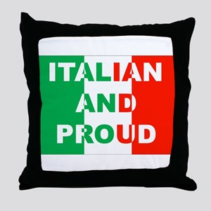 Italian And Proud Throw Pillow