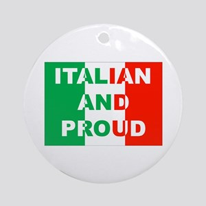 Italian And Proud Ornament (Round)