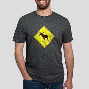 Adirondacks Moose Mens Tri-blend T-Shirt
