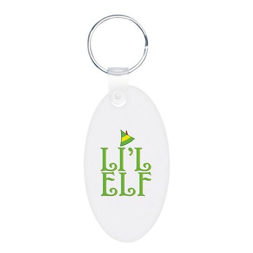 Li'l Elf Aluminum Oval Keychain