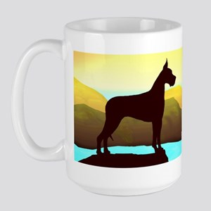 Great Dane By the Sea Large Mug