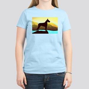Great Dane By the Sea Women's Pink T-Shirt