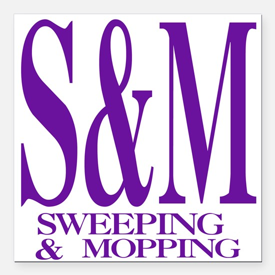 """4-3-S&M.png Square Car Magnet 3"""" x 3"""""""