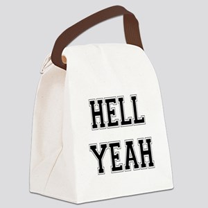 4-3-Hell Yeah Canvas Lunch Bag