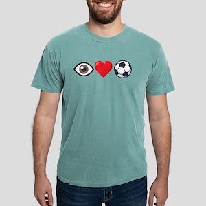 I Heart Soccer Emoji Mens Comfort Colors Shirt