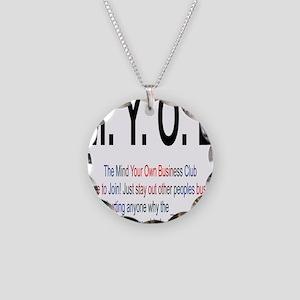 M.YO.B Club Necklace Circle Charm