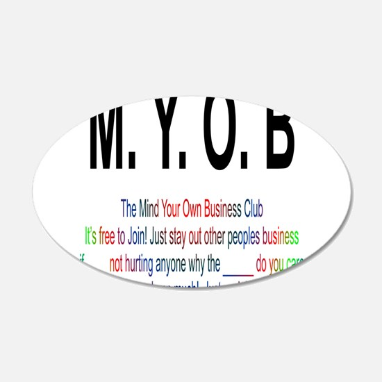 M.YO.B Club Wall Decal