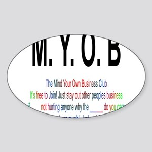 M.YO.B Club Sticker (Oval)