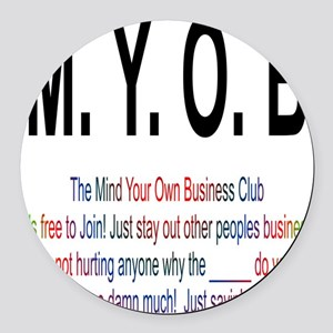 M.YO.B Club Round Car Magnet