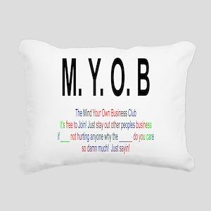 M.YO.B Club Rectangular Canvas Pillow