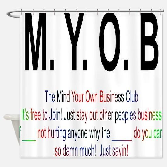 M.YO.B Club Shower Curtain