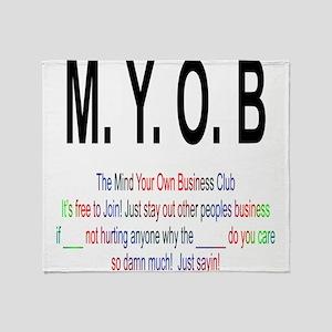 M.YO.B Club Throw Blanket