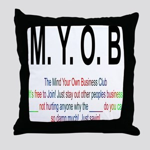 M.YO.B Club Throw Pillow