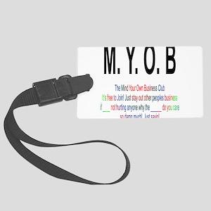 M.YO.B Club Large Luggage Tag