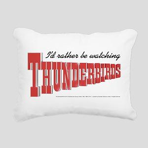 Watching Thunderbirds Rectangular Canvas Pillow