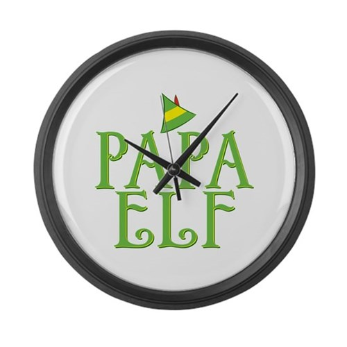 Papa Elf Large Wall Clock