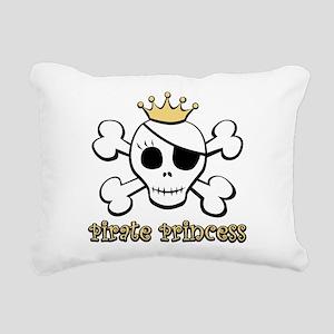 Funny Pirate Princess Rectangular Canvas Pillow