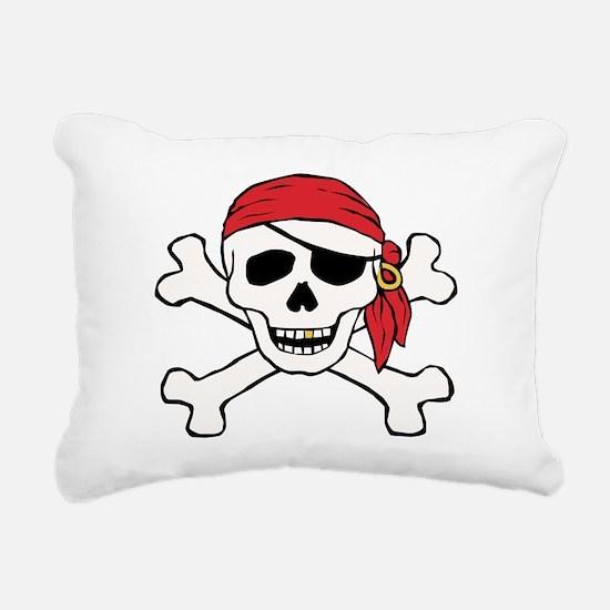 Funny Pirate Rectangular Canvas Pillow